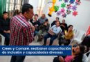 Crees y Cornaré, realizaron capacitación de inclusión y capacidades diversas