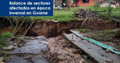 Balance de sectores afectados en época invernal en Guarne
