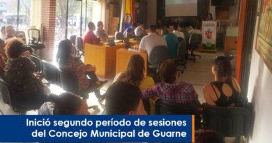 Inició el segundo período de sesiones del Concejo Municipal de Guarne