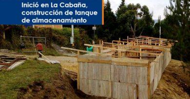 Inició en La Cabaña, construcción de tanque de almacenamiento