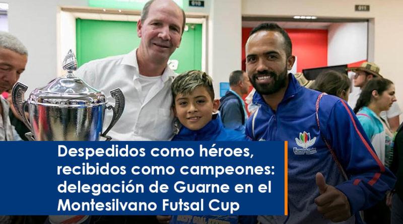 Despedidos como héroes, recibidos como campeones: delegación de Guarne en el Montesilvano Futsal Cup